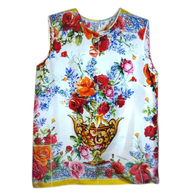 Dolce & Gabbana Majolica silk sleeveless top